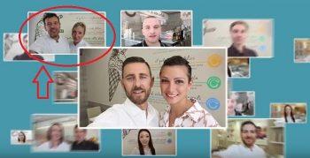 Un frame dello spot pubblicitario con Sonia e Claudio