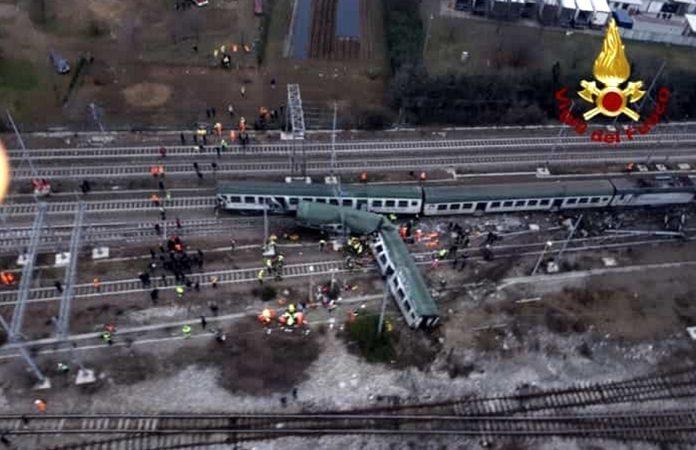 Treno deragliato a Pioltello alto